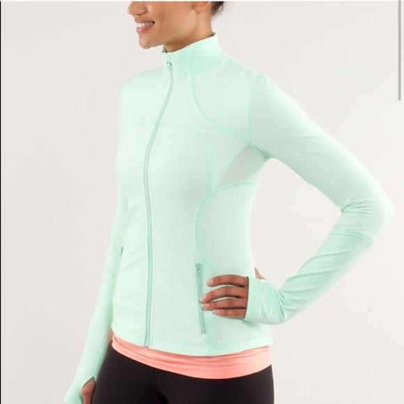 LULULEMON Define Fitted Track Jacket Mint Green
